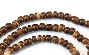 Pucalet, 2/3mm, Coco, Natural Brown beads, DYED COCONUT BEADS