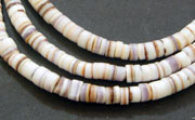 Heishi, 4/5mm, Mixed Conus Shell beads, TROPICAL SHELL BEADS