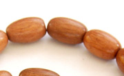 Oval, 10x15mm, Bayong beads, EXOTIC WOODEN BEADS