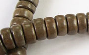 Pucalet, 10x5mm, Greywood beads, EXOTIC WOODEN BEADS