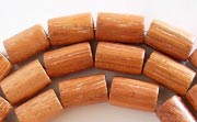 Tube, 6x10mm, Bayong beads, EXOTIC WOODEN BEADS