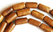Tube, 6x10mm, Robles beads, EXOTIC WOODEN BEADS
