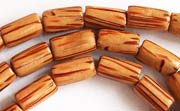Tube, 6x10mm, Palmwood beads, EXOTIC WOODEN BEADS