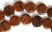 Flat Round, 4x10mm, Robles beads, EXOTIC WOODEN BEADS