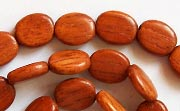 Flat Oval, 3.5x8x10.5mm, Bayong beads, EXOTIC WOODEN BEADS