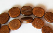 Flat Oval, 3.5x8x10.5mm, Robles beads, EXOTIC WOODEN BEADS