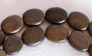 Flat Oval, 3.5x8x10.5mm, Greywood beads, EXOTIC WOODEN BEADS