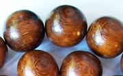 Round, 15mm, Robles beads, EXOTIC WOODEN BEADS
