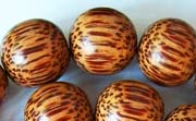 Round, 15mm, Palmwood beads, EXOTIC WOODEN BEADS