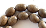 Oval, 8x11mm, Greywood beads, EXOTIC WOODEN BEADS