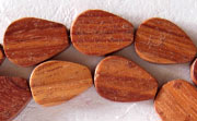 Flat Teardrop, 3.5x10x15mm, Bayong beads, EXOTIC WOODEN BEADS