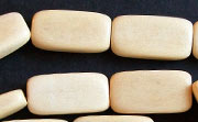 Flat Rectangle, 4x10x18.5mm, White Wood beads, DYED WOODEN BEADS