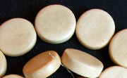 Flat Round, 5x15mm, Cheesewood beads, EXOTIC WOODEN BEADS