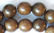 Round, 12mm, Greywood beads, EXOTIC WOODEN BEADS