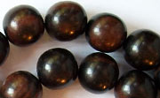 Round, 12mm, Ebony beads, EXOTIC WOODEN BEADS