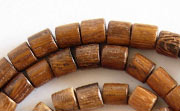 Tube, 6x6mm, Robles beads, EXOTIC WOODEN BEADS