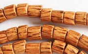 Tube, 6x6mm, Palmwood beads, EXOTIC WOODEN BEADS