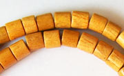 Tube, 6x6mm, Jackfruit beads, EXOTIC WOODEN BEADS