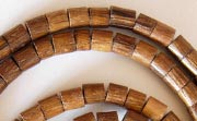 Heishi, 4/5mm, Robles beads, EXOTIC WOODEN BEADS