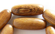 Oval, 10x25mm, Robles beads, EXOTIC WOODEN BEADS