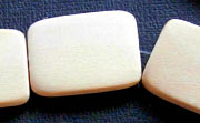 Flat Rectangle, 4x18x25mm, White Wood beads, EXOTIC WOODEN BEADS