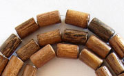 Tube, 5x8mm, Robles beads, EXOTIC WOODEN BEADS