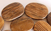 Flat Oval, 5x15x20mm, Robles beads, EXOTIC WOODEN BEADS