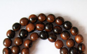 Round, 4/5mm, Ebony beads, EXOTIC WOODEN BEADS