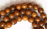 Round, 6mm, Robles beads, EXOTIC WOODEN BEADS