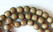 Round, 6mm, Greywood beads, EXOTIC WOODEN BEADS