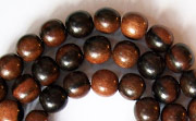 Round, 6mm, Ebony beads, EXOTIC WOODEN BEADS