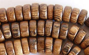 Pucalet, 8x3.5mm, Robles beads, EXOTIC WOODEN BEADS