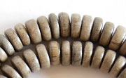 Pucalet, 8x3.5mm, Greywood beads, EXOTIC WOODEN BEADS