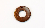 Donut, 20/9mm, Coco, Natural Brown beads, DYED COCONUT PENDANTS & PARTS