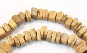 Square Cut, 4x4mm, Coco, Natural beads, NATURAL COCONUT BEADS
