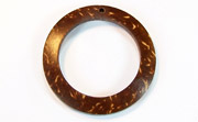 Donut, 40/28mm, Coco, Natural Brown beads, DYED COCONUT PENDANTS & PARTS