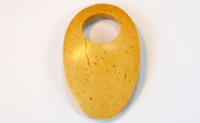 Oval, 35x65mm, Offset Hole 17mm, Coco, No Beading Hole, Natural beads, NATURAL COCONUT PENDANTS & PARTS