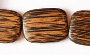 Flat Rectangle, 5x20x24mm, Patikan beads, EXOTIC WOODEN BEADS