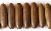 Oval, Side Drill, 25x7mm, Greywood beads, EXOTIC WOODEN BEADS