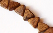 Triangle, Side Drill, 5x8x10mm, Robles beads, EXOTIC WOODEN BEADS
