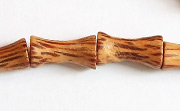 Bone, 8x16mm, Palmwood beads, EXOTIC WOODEN BEADS