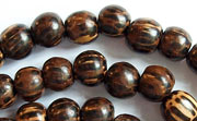 Round, 8mm, Patikan beads, EXOTIC WOODEN BEADS