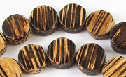 Flat Round, 4x10mm, Patikan beads, EXOTIC WOODEN BEADS