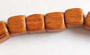 Dice, 8x8x8mm, Bayong beads, EXOTIC WOODEN BEADS