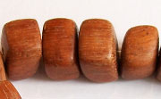 Slidecut Cube,15x17x12mm, Bayong beads, EXOTIC WOODEN BEADS