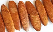 Slide Cut, 4x30x9mm, Bayong  beads, EXOTIC WOODEN BEADS