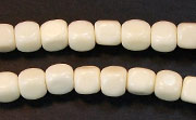 Dice, 6x6mm, Centrehole, Bone beads, BONE BEADS