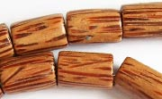 Tube, 10x15mm, Palmwood beads, EXOTIC WOODEN BEADS