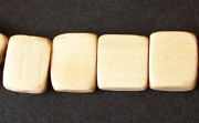 Flat Rectangle, 4x12x11mm, White Wood beads, EXOTIC WOODEN BEADS