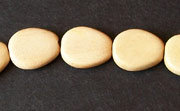 Flat Teardrop, 3.5x11x13mm, White Wood beads, EXOTIC WOODEN BEADS
